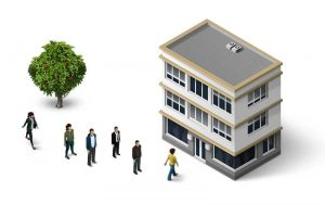 Zájemci o prohlídku bytu