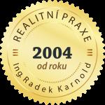 Realitní praxe od roku 2004