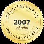 Realitní praxe od roku 2007