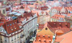 Praha z ptačí perspektivy